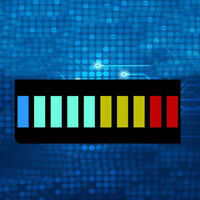 5 Pcs/set New 10 Segment Led Bargraph Light Display Red Yellow Green Blue TO