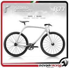 Rizoma R77 MetropolitanBike Single Speed, Matt White Carbon Frame + Black Wheels