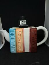 Books and Ink Well Mini Teapot