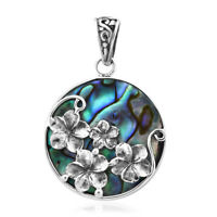 BALI LEGACY Sterling 925 Silver Abalone Shell Pendant Women Jewelry For Gift