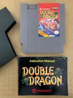 Double Dragon NES Cartridge 100% Authentic TESTED WORKING w/ Manual