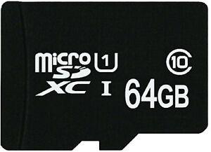 MicroSD 64 GB MicroSDXC Class 10 UHS-1 für Handy Galaxy Note 9