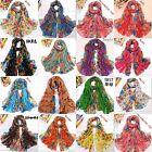 Womens Soft Scarves Scarf Multi Flower Super Long Wraps Beach Shawls Free Size
