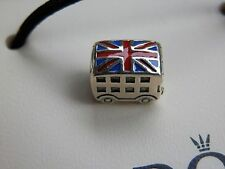 Pandora S925 Ale London Bus Charm 791049ER With Tissue And Pop-up Box