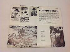 The Searchers John Wayne Jeffrey Hunter Miles 1956 Danish Movie Press Release