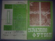 Programme Dynamo Tbilisi USSR - OFK Belgrade Serbia Yugoslavia 1973-74 UEFA CUP
