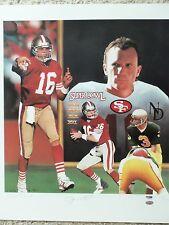 49ers Joe Montana Signed Daniel Smith Litho PSA/DNA & SM.COM Authenticated