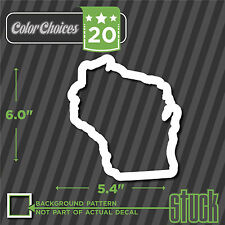 Wisconsin State Outline - vinyl decal sticker die cut bumper oval euro WI track