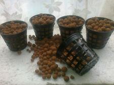"""5x 3""""  Mesh Pots + 1L Expanded Clay Pebbles BUNDLE!  Aeroponics, Hydroponics"""