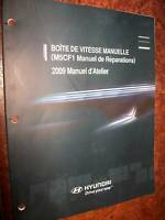 Hyundai boite manuelle M5CF1 : manuel atelier 2009
