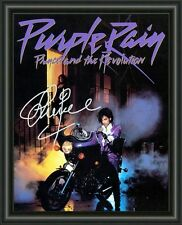 PRINCE - PURPLE RAIN  A4 SIGNED AUTOGRAPHED PHOTO POSTER  FREE POST