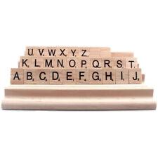 4pcs/set Wood Scrabble Tile Rack Wooden Replacement Stand Letter Holder Craft