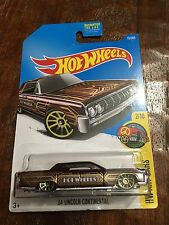 """Hot Wheels - """"64 Lincoln Continental Hot Wheels Brown With Gold Trim"""