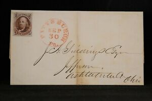 Pennsylvania: Pittsburgh 1848 #1 (Four Nice Large Margins) Cover, Red CDS & Grid