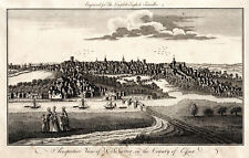 PERSPECTIVE VIEW OF COLCHESTER, IN THE COUNTY OF ESSEX 1771  ANTIQUE ENGRAVING