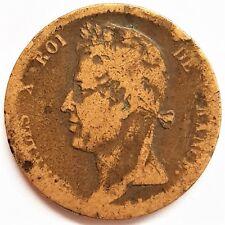 5 cent colonie Française Charles X 1824