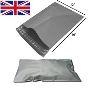 "A3 Size - 12"" x 16"" LARGE Grey Self Seal Mailing Bags Packaging Mailing Postage"