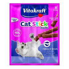 Vitakraft Cat Treats Cat - Stick Mini Bass Cod & Pollack - 3 x 6g - Reward