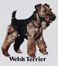 Vintage 1990 Welsh Terrier Dog T Shirt Size Xl Screen Stars/ Teletrend