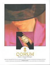 ▬► PUBLICITE ADVERTISING AD Montre Watch CORUM Aphrodite