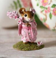 Wee Forest Folk Figurine M-459a - Cherry Blossom Girl in Japanese Kimono