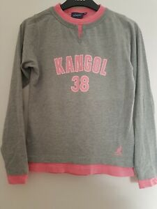 Ladies Pink/Grey Long Sleeved Double Layer Sports Top KANGOL size 10 With Motif