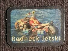 Redneck Jetski Leather Humor Biker Jacket Motorcycle Vest Novelty Patch