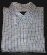 ROBERT TALBOTT WHITE WITH FINE BLUE LINE PLAIDS QUALITY DRESS SHIRT RT7701C4