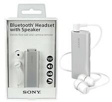 Original Verpackt Stereo Bluetooth Headset Sony SBH56 mit Lautsprecher Silber
