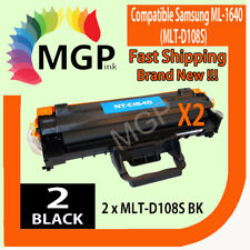 2x ML1640 Toner Fits for Samsung ML-1640 ML-2240 ML2240 MLT-D108S Printer