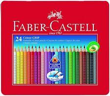 FABER-CASTELL Scatola di 24 Colori grip 2001 MATITE Qualità Matite Colorate Nuovo