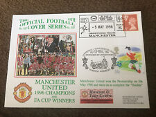 MANCHESTER UNITED LEAGUE & FA CUP DOUBLE WINNERS 1996 DAWN FOOTBALL POSTAL COVER
