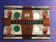 2009-10 Panini Absolute Celtics Team Quads Jersey 18/100 Pierce Garnett Rondo