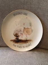"""Precious Moments 6-1/2"""" Procelain Plate By Enesco Blessed Are The Pure In Heart"""