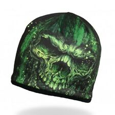 HD Sublimation Green Black Gothic Crypt Shredder Skull Biker Stocking Cap Beanie