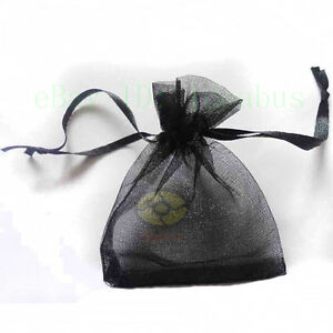 """25/50/100/200pcs Organza Pouches Jewelry Wedding Party Favor Gift Bags  4"""" X 3"""""""