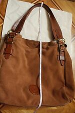 LAUREN RALPH LAUREN Brown Suede Handbag