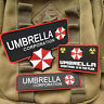 A SET Resident Evil Patches Red Umbrella Company Morale Badge Hook PATCH