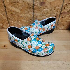 SANITA Danish Design Floral Women's Clogs Comfort Shoes Size 41  US 11