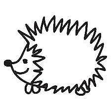 "Hedgehog Vinyl Sticker Decal Macbook Laptop Car Window 4"" Black or White"
