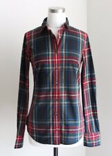 J.CREW Perfect shirt in Stewart plaid 6 S Small Red Green Top Dress NEW NWT