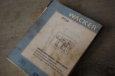 WACKER PT3A WATER TRASH PUMP Owner Operator Parts Manual Book List catalog spare