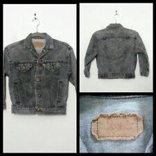 Levi's Gray Denim Jacket Youth XS, Chest 34 4 Pocket, Killer Fade Inv#S9702