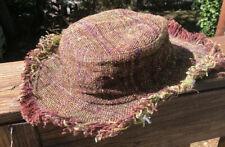 Nepal Organic Natural Handmade Woven 100% Hemp Adjustable Edge Boho Sun Hat OS