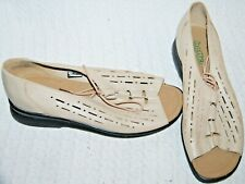 Hotter Ladies Size 7.5 Leather Tie In Sandals With Comfort Support And Grip Sole