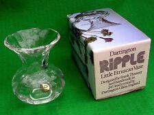 Dartington Ripple, Lead Crystal, Little Etruscan Vase. FT346 by Frank Thrower