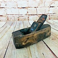 Vintage Hand Carved Wood Coffin Plane Smoothing Carpenter farmhouse decor