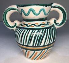 selten Vase Anse in im Stil Picault Vallauris Vintage H 13,7 L 17 l 10 Cm