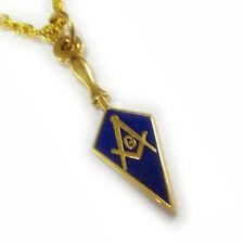 Trowel Square Compass Masonic Masonry Freemason Charm Pendant Necklace w/ Chain
