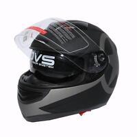 Matte Black DOT Star Dual Visor Full Face Motorcycle Helmet + Sun Shield S~XXL